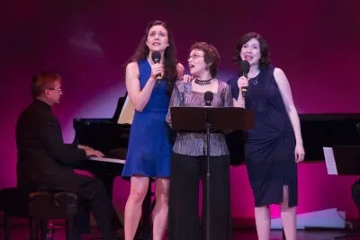 """Kerry Conte, Judy Blazer and Leah Horowitz as the appeared at the 92Y's Lyrics & Lyricists Series: """"To Life! Celebrating 50 Years of 'Fiddler on the Roof'"""" (Photo credit: Richard Termine)"""