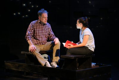 "Michael Cullen and Emma Galvin in a scene from ""The Science of Stars and Fathers and Daughters"" by Darcy Fowler (Photo credit: Gerry Goodstein)"