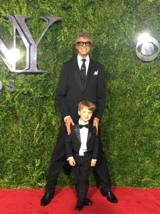 Tommy Tune with 6-year-old theater critic Iain Armitage
