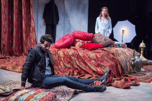 "Karan Oberoi and Alia Attallah in a scene from ""Threesome"" (Photo credit: Hunter Canning)"
