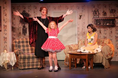 """Peter Land, Tori Murray and Kim Maresca in a scene from the new revival of """"Ruthless!""""(Photo credit: Carol Rosegg)"""
