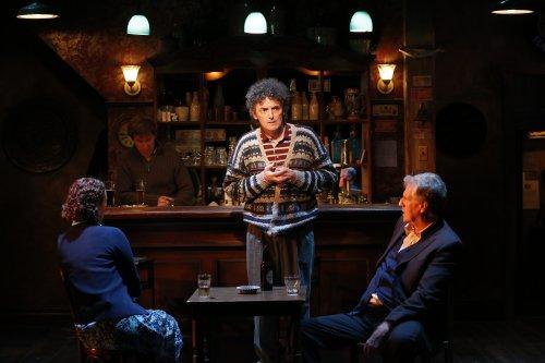 "Amanda Quaid, Tim Ruddy, John Keating and Paul O'Brien in a scene from ""The Weir"" (Photo credit: Carol Rosegg)"