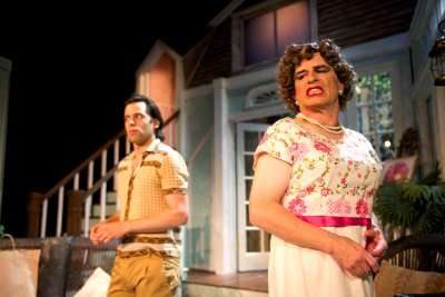 """Jason Cruz and Everett Quinton in a scene from """"Drop Dead Perfect""""(Photo credit: John Quilty)"""