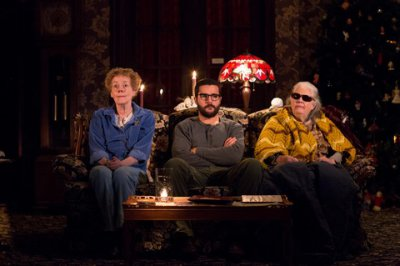 "Georgia Engel, Christopher Abbott and Lois Smith in a scene from Annie Baker's ""John"" (Photo credit: Matthew Murphy)"