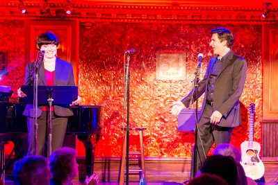 "Rebecca Hoodwin and Jonathan Hadley as they sang ""Sunrise, Sunset"" in ""Another Hundred Years"" (Photo credit: Proper Pix)"