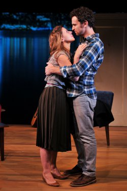 "Nick Westrate, Miriam Silverman and Matt Dallapina in a scene from ""a Delicate Ship"" (Photo credit: Jenny Anderson)"