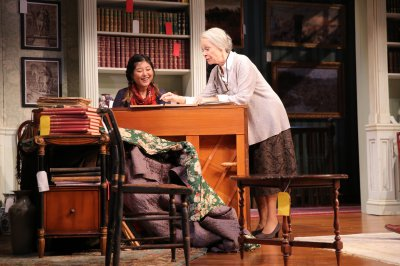 """Kahyun Kim and Maureen Anderman in a scene from A.R Gurney's """"Love & Money""""(Photo credit: Joan Marcus)"""