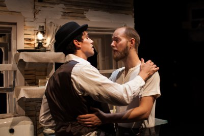 "Shane Zeigler and Daniel Johnsen in a scene from ""The Gray Man"" (Photo credit: Suzi Sadler)"