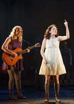 "Katie Boeck and Sandra Mae Frank in a scene from ""Spring Awakening"" (Photo credit: Joan Marcus)"