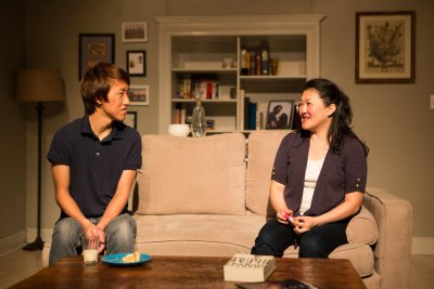 "Justin Hsu and Suzie Cho in a scene from The Full Spectrum Theatre Company's revival of ""Rabbit Hole"" (Photo credit: Daniel Hurtado)"