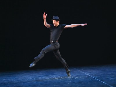 "NYCB principal dancer Robert Fairchild in ""Ballin' the Jack,"" staged by Damian Woetzel (Photo credit: Richard Termine)"