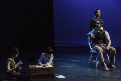 "H.T. Chen & Dancers in a scene from ""South of Gold Mountain"" (Photo credit: Joe Boniello)"