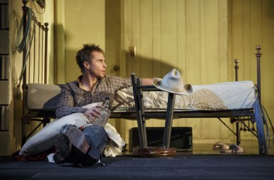 "Sam Rockwell in a scene from ""Fool for Love"" (Photo credit: Joan Marcus)"