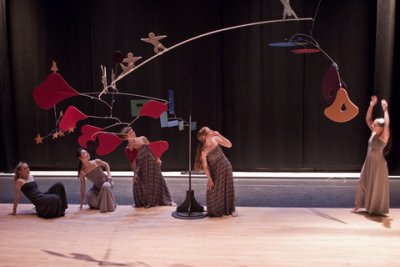 "General Mischief Dance Theater in a scene from ""Up and Away"" (Photo credit: Joshua Green)"