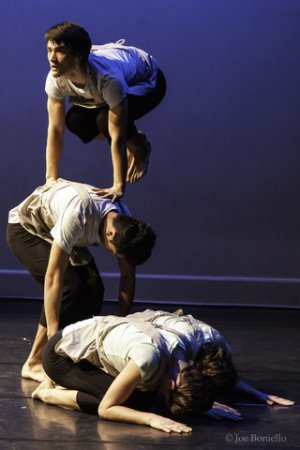 "H.T. Chen & Dances in a scene from ""South of Gold Mountain"" (Photo credit: Joe Boniello)"
