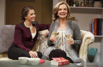 "Mairin Lee and Audrey Heffernan Meyer in a scene from ""Romance Language"" (Photo credit: Joan Marcus)"