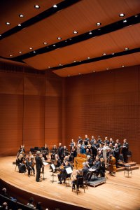 American Classical Orchestra and Chorus with Conductor Thomas Crawford as they appeared at Alice Tully Hall (Photo credit: Arlette Landestoy)
