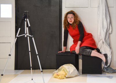 "Shawna  Cormier in a scene from ""Gluten!"" (Photo credit: Russ Rowland)"