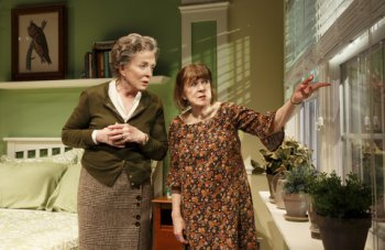"Holland Taylor and Marylouise Burke in a scene from ""Ripcord"" (Photo credit: Joan Marcus)"