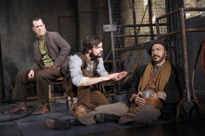 "Darren Pettie, Jonny Orsini and Evan Zes in a scene from ""Incident at Vichy"" (Photo credit: Joan Marcus)"