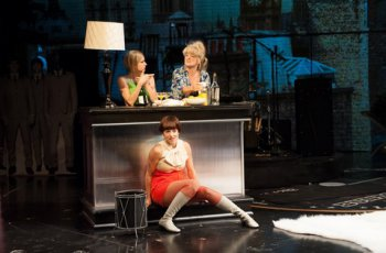 "Ariana Venturi, Keira Naughton (above) and Nicole Parker (below) in a scene from ""These Paper Bullets!"" (Photo credit: Ahron Foster)"