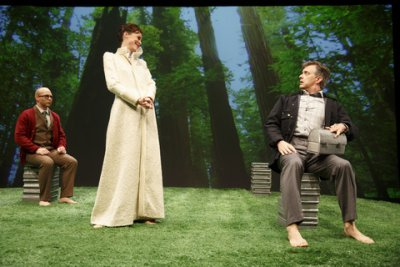 "Joel Rainwater, Christa Scott-Reed and Michael Frederic in a scene from ""The Great Divorce"" (Photo credit: Joan Marcus)"