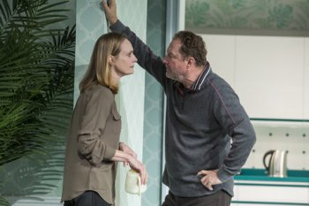 """Lisa Emery and Stephen Root in a scene from """"Marjorie Prime"""" (Photo credit: Jeremy Daniel)"""