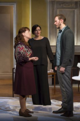 """Ann Dowd, Dagmara Dominczyk and Bill Heck in a scene from """"Night Is a Room""""(Photo credit: T. Charles Erickson)"""