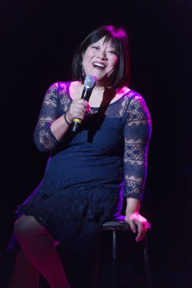 "Ann Harada as she appeared in 92Y's Lyrics & Lyricists Series: ""A Funny Thing Happened: Songs from the Road to Broadway!"" (Photo credit: Richard Termine)"