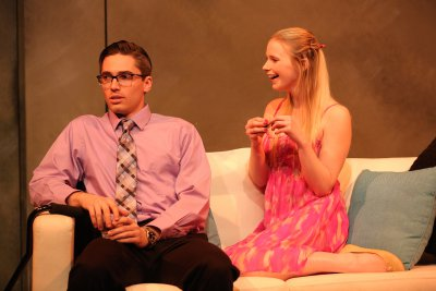 """Mark Ryan Anderson and Alicia Smith in a scene from Lexi Wolfe's """"Stand Up for Oneself""""(Photo credit: Carol Rosegg)"""
