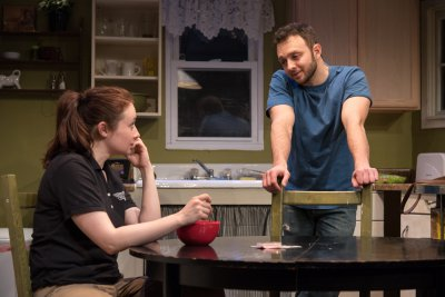 "Vanessa Vache and James Kautz in a scene from ""Utility"" (Photo credit: Russ Rowland)"