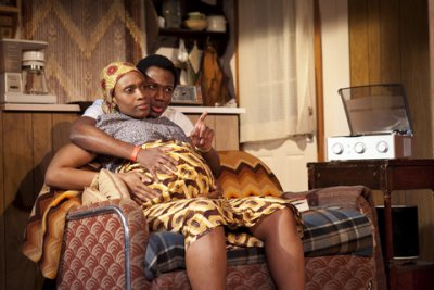"Chinasa Ogbuagu and Hubert Point-Du Jour in a scene from ""Sojourners"" (Photo credit: Chasi Annexy)"