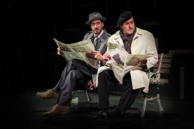 "Kian Kavousi and Ken Straus in a scene from ""Defendant Maurice Chevalier"" (Photo credit: Angie Kremer)"