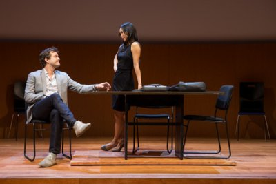 "Joshua Jackson and Anne Son in a scene from ""Smart People"" (Photo credit: Matthew Murphy)"