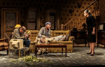 """Paul Sparks, Ed Harris and Amy Madigan in a scene from Sam Shepard's """"Buried Child"""" (Photo credit: Monique Carboni)"""