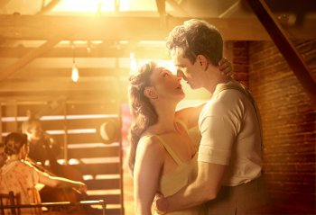 "Carmen Cusack and Paul Alexander Nolan in a scene from ""Bright Star"" (Photo credit: Nick Stokes)"