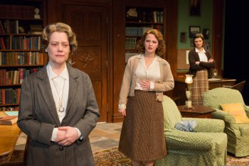"Kellie Overbey, Emily Walton and Mary Bacon in a scene from ""Women Without Men"" (Photo credit: Richard Termine)"