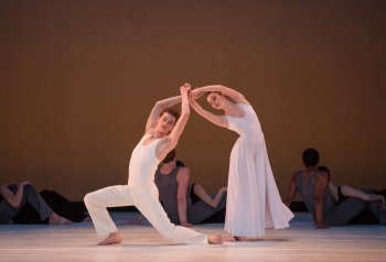 "Joshua Guillemot-Rodgerson and Mikaela Kelly in a scene from Paul Taylor's ""Roses"" (Photo credit: Rosalie O'Connor)"