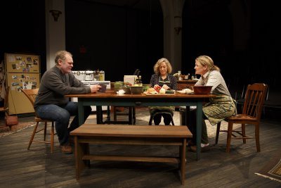 "Jay O. Sanders, Meg Gibson and Lynn Hawley in a scene from ""Hungry"" (Photo credit: Joan Marcus)"