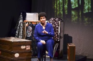 "Trezana Beverley in a scene from ""Mabel Madness: The Life of Mabel Mercer""(Photo credit: Tanja Hayes Photos)"
