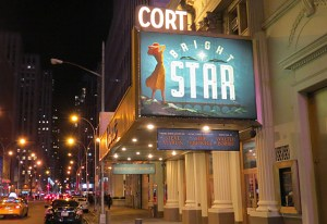 #1. Marquee of Bright Star at the Cort Theater, NYC