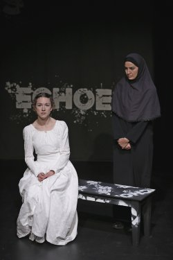 "Felicity Houlbrooke and Filipa Braganca in a scene from ""Echoes"" (Photo credit: Carol Rosegg)"