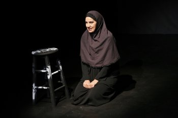"Filipa Braganca in a scene from ""Echoes"" (Photo credit: Carol Rosegg)"