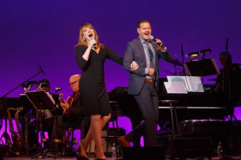 "Emily Skinner and Clarke Thorell as they sang Cole Porter's ""You're The Top"" in 92Y's Lyrics & Lyricists Series: ""Everything's Coming Up Ethel: The Ethel Merman Songbook"" (Photo credit: Richard Termine)"