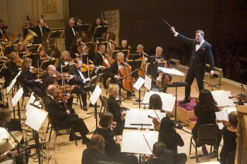 Music director Steven Reineke conducts The New York Pops (Photo credit: Richard Termine)