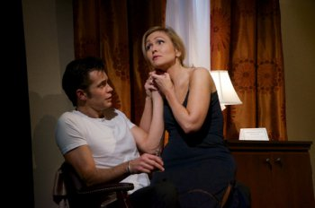 "Timothy Olyphant and Jenn Lyon in a scene from ""Hold On to Me Darling"" (Photo credit: Doug Hamilton)"