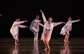 "Miami City Ballet dancers in a scene from Twyla Tharp's ""Sweet Fields"" (Photo credit: Daniel Azoulay)"