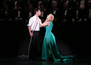 """Elliot Madore and Kelli O'Hara in a scene from """"Dido and Aeneas"""" (Photo credit: Erin Baiano)"""