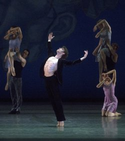"James Whiteside in Ratmansky's ""Chamber Symphony"" (Photo credit: Rosalie O'Connor)"