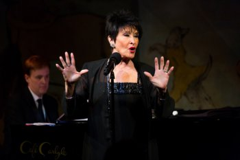 Chita Rivera in performance at the Café Carlyle with Michael Patrick Walker at the piano (Photo credit: David Andrako)